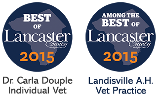 "Awarded ""Best of Lancaster"" Veterinarian Practice 2015 & ""Among The Best of Lancaster"" Individual Veterinarian 2015"